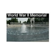 WWII Memorial Rectangle Magnet