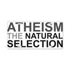 Atheism The Natural Selection Aluminum License Pla