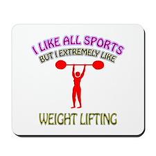 Weight Lifting Design Mousepad