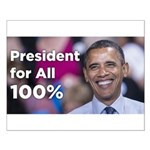 Obama: President for All 100% Small Poster