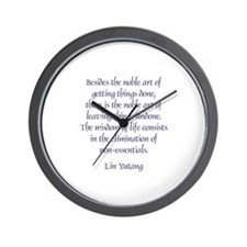 Quips and quotes Wall Clock