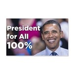 Barack Obama: President for All 100% 20x12 Wall De