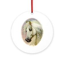 Dapple Grey Arabian Horse Ornament (Round)