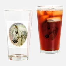 Dapple Grey Arabian Horse Drinking Glass