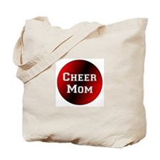 Black and Red Cheer Mom Tote Bag