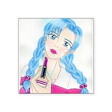 "Shi Shi Loves Me Square Sticker 3"" x 3"""