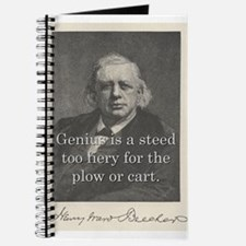 Genius Is A Steed - H W Beecher Journal