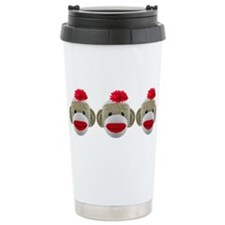 Cute Sock monkeys Travel Mug