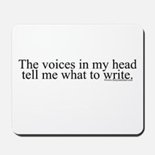 The voices in my head tell me Mousepad