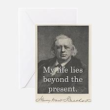 My Life Lies Beyond - H W Beecher Greeting Cards