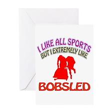 Bobsled Design Greeting Card