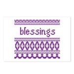 Blessings 5 Postcards (Package of 8)