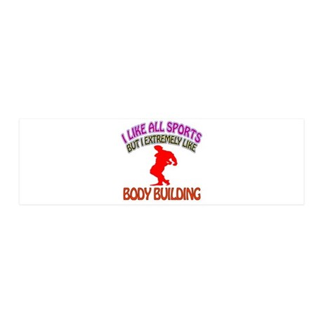 Body building Design 36x11 Wall Decal