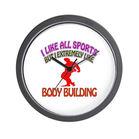 Body building Design Wall Clock
