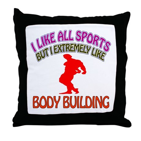 Body building Design Throw Pillow