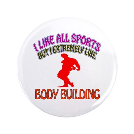 """Body building Design 3.5"""" Button (100 pack)"""