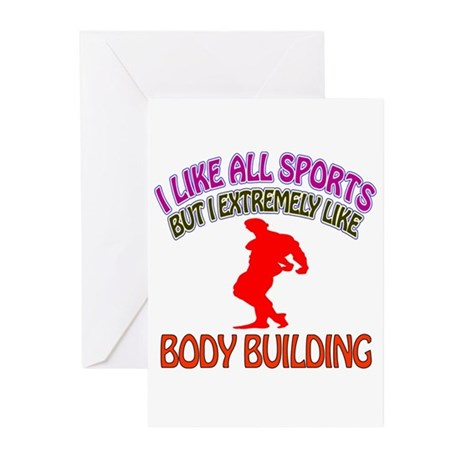 Body building Design Greeting Cards (Pk of 20)