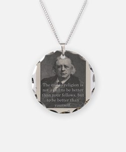 The Call To Religion - H W Beecher Necklace