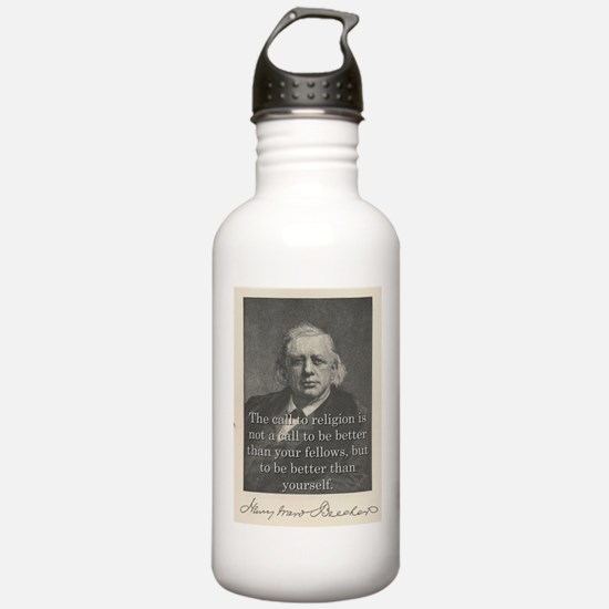 The Call To Religion - H W Beecher Water Bottle