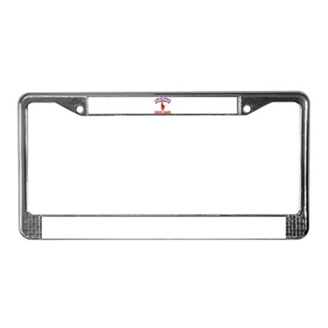 Cheer Leading Design License Plate Frame