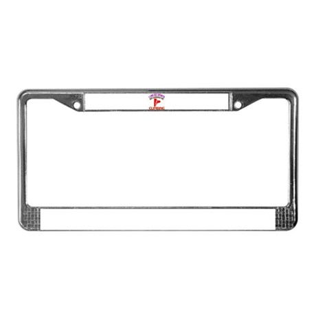 Climbing Design License Plate Frame
