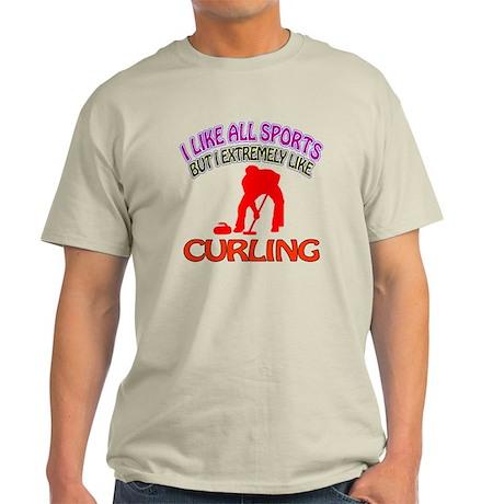 Curling Design Light T-Shirt