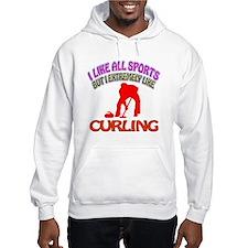 Curling Design Hoodie
