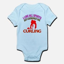 Curling Design Infant Bodysuit