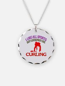 Curling Design Necklace