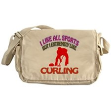 Curling Design Messenger Bag