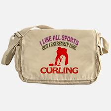 Curling Design Messenger Bag