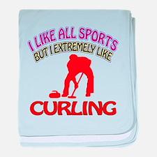 Curling Design baby blanket