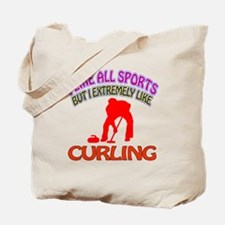 Curling Design Tote Bag