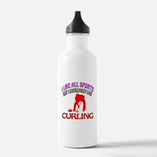 Curling Design Water Bottle