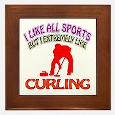 Curling Design Framed Tile