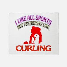 Curling Design Throw Blanket