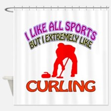 Curling Design Shower Curtain