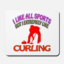 Curling Design Mousepad