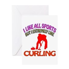 Curling Design Greeting Card