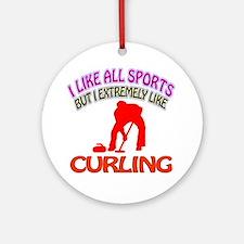 Curling Design Ornament (Round)