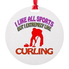 Curling Design Ornament