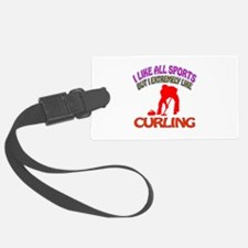 Curling Design Luggage Tag