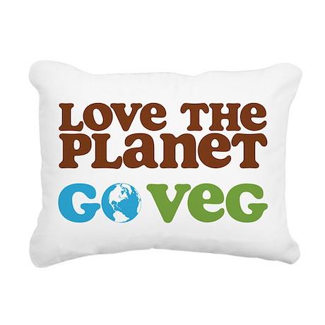 Love the Planet Go Veg.png Rectangular Canvas Pill