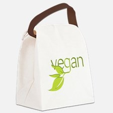 Leafy Vegan.png Canvas Lunch Bag