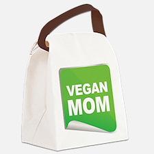 Vegan Mom Label.png Canvas Lunch Bag