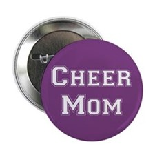 Purple & White Cheer Mom Button
