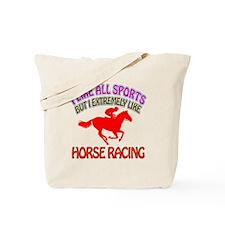 Horse Racing Design Tote Bag