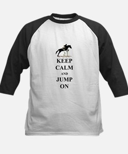 Keep Calm and Jump On Horse Kids Baseball Jersey