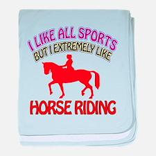 Horse Riding Design baby blanket