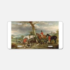 Vintage Painting of the Hunt Aluminum License Plat